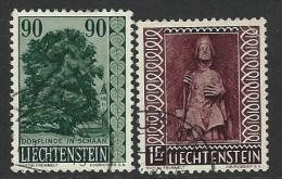 Liechtenstein  1959   Sc#334 & 352  Better Used  2016 Scott Value $4.50 - Usados