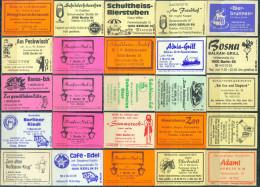25 Alte Gasthausetiketten Aus Berlin, Deutschland Mit Postleitzahl 1000, #4 - Luciferdozen - Etiketten