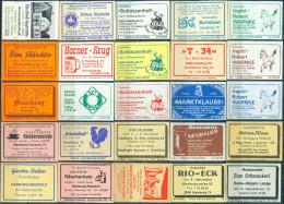25 Alte Gasthausetiketten Aus Hamburg, Deutschland Mit Postleitzahl 2000, #1 - Luciferdozen - Etiketten