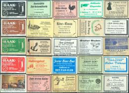 25 Alte Gasthausetiketten Aus Hamburg, Deutschland Mit Postleitzahl 2000, #2 - Luciferdozen - Etiketten