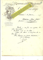 62 - Pas-de-calais - CORBEHEM - Facture CAROUGE - Comptoir Des Eaux-de-vie D'Algérie – 1905 - REF 216 - 1900 – 1949