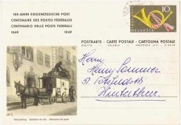 ATT-L17 - SUISSE Entier Cor Postal Carte Illust. Distribution Des Colis Postaux - Centenaire Des Postes Fédérales - Poste