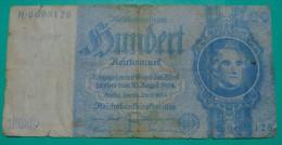UNIQUE GERMANY 100 REICHSMARK 1935 STRANGE COLOR SERIAL # IN BLUE??!!, VF. PICK - 183??!! - [ 4] 1933-1945: Derde Rijk