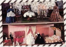 T849 MUSEE MONACO POUPEES LA SALLE A MANGER ET LA CHAMBRE DES MARIES 1855 2 SCANS - Musées