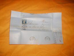 LETTRE ANCIENNE DE 1856. /  DEPART STE MARIE ?. A ?... / CACHETS + TIMBRE. + OBLIT. PC. - 1849-1876: Période Classique