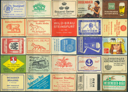 25 Alte Zündholzschachteletiketten Aus Deutschland Mit Bier - Werbung #1 - Luciferdozen - Etiketten