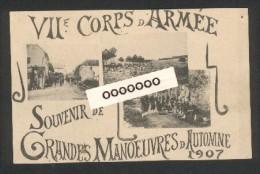 Souvenir Des Grandes Manoeuvres D'Automne 1907 - 7 ème Corps D'armée - Manovre