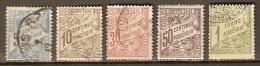 TUNISIE   -   TAXE   -   1901 / 03 .  Type Banderole.  Oblitérés - Tunesien (1888-1955)