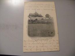 A325. CPA. PNOMPENH. Tribune De Gala Et Façade Du Palais Du Roi Au Nord....  Rare Beau Plan Animé. écrite & Voyagée 1903 - Cambodia