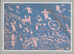CPM UTAH - Petroglyphs - Newspaper Rock Near Indian Creek -  Animaux, Gravure, Pierre, Chasseurs 'journal' - Non Classés
