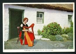 IRELAND  -  Traditional Irish Harpist  Unused Vintage Postcard As Scan - Other