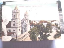 Panama Cathedral Plaza From City Hall - Panama