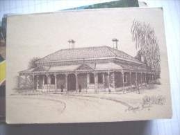 New Zealand A Unknown Building Double Foulded Card - Nieuw-Zeeland