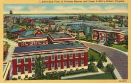 Bird's-eye View Of Fortress Monroe And Coast Artillery School - Hampton