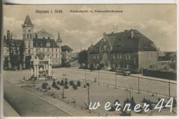 Haynau V.1915 Bahnhof Und (Bahnhofsplatz Und Denkmal  (13097) - Schlesien