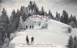 (38) Massif De La Chartreuse - Le Sappey Col De L'Emeindas En Hiver - Ski Skieurs Sports D'Hiver - 2 SCANS - Sonstige Gemeinden