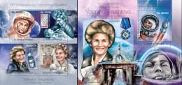 S. Tomè 2013, Space, Tereshkova, 4val In BF +BF - Space