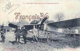 Aviation - L'Aviateur Morin Devant Son Aéroplane Blériot - 2 SCANS - Aviation