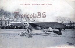 Aviation - Monoplan Au Moment Du Départ - 2 SCANS - Aviation