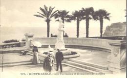 """MONACO -==- MONTE CARLO -==- Les Terrasses Et Monument De BERLIOZ        """" Précurseur """" - Le Terrazze"""