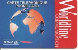 CARTE-PREPAYEE-60U-WORLDLINE-La TERRE-Exp 31/12/98- T B E-RARE- - France