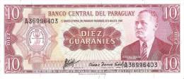Paraguay - Pick 196b  - 10 Guaranies 1952 - Unc - Paraguay