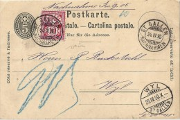NN PK 18  St.Gallen - Wyl SG             1890 - Entiers Postaux