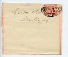 """Australia Victoria Postal Stationery Newspaper Wrapper 1893 Oval """"Post & Telegraph Office"""" Cancel (E830) - 1850-1912 Victoria"""