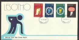 LESOTHO  1977  WORLD  RHEUMATISM YEAR  FDC - Lesotho (1966-...)
