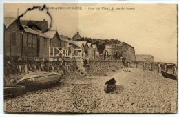 - SAINT-AUBIN-sur-MER - Coin De Belle La Plage à Marée Basse, Barques, écrite En 1931, Scans. - Saint Aubin