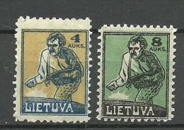 LITAUEN Lithuania 1922 Michel 124 - 125 * - Litouwen
