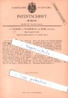 Original Patent - G. Thommen In Waldenburg Bei Basel , Schweiz , 1885 , Sperrgetriebe !!! - Documents Historiques