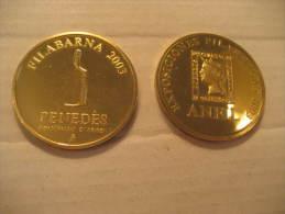 Filabarna 2003 ANFIL Medal Medalla Coin Vino Wine Enology Spain Barcelona - Espagne