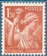 France 1944 - Type Iris 1f. 50 Rouge-brun - Y&T N° 652 ** Neuf Sans Charnière (gomme D´origine Intacte). - 1939-44 Iris