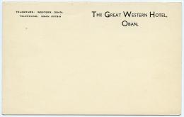 OBAN : THE GREAT WESTERN HOTEL (STATIONARY CARD) - Argyllshire