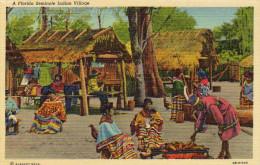 A Florida Seminole Indian Village - United States