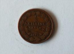 Suede 1/3 Skilling Banco 1852 - Suède