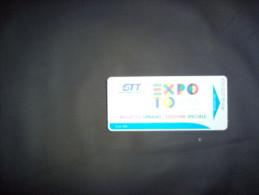 EXPO 2015 - BIGLIETTO AUTOBUS GTT DI TORINO - - Transporto