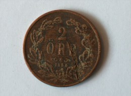 SUEDE 2 Ore 1858 - Suède