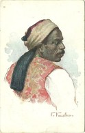 A Picturesque Egyptian Type - Sais - A Runner In Front Of Carriages (2 Scans) - Egypte