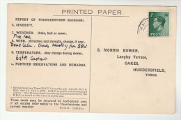 1936 WISBOROUGH GB E8 Stamps COVER Postcard METEOROLOGY Report WEATHER STATION  Stamps Eviii - 1902-1951 (Kings)