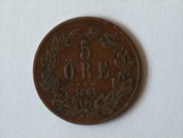 SUEDE 5 Ore 1861 - Suède