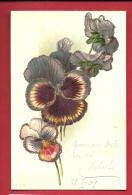 HAR-08 Pensées Avec Dorures. Précurseur, Circulé En 1901 - Fiori