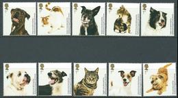 GB 2010  BATTERSEA DOGS AND CATS  SET OF 10 MNH SG 3036-45 MI 2900-09 SC 2757-66 IV 3284-93 - 1952-.... (Elizabeth II)