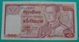 THAILAND 100 BAHT ND 1978 XF+  - AUNC.. PICK - 89 - Thailand
