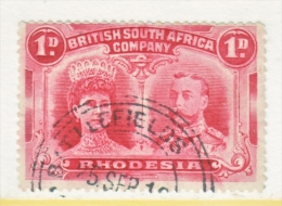BR. SOUTH  AFRICA CO    102 B  Perf. 15    (o)   TOWN  CANCEL - Southern Rhodesia (...-1964)