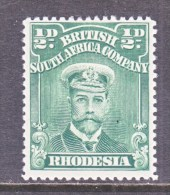 BR. SOUTH  AFRICA CO    119 D  Perf. 15    * - Southern Rhodesia (...-1964)