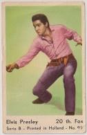 Elvis Presley Vintage Movie Film Star Card Holland - Carte Vintage Movie Film Étoile Hollande - 1960's - Chromos