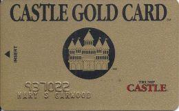 Trump Castle Casino Castle Gold Card - Slot Card - Casino Cards