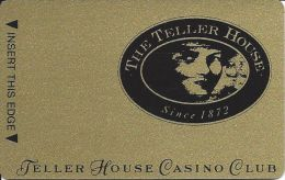Teller House Casino Blank 3rd Issue Gold Slot Card - Casino Cards